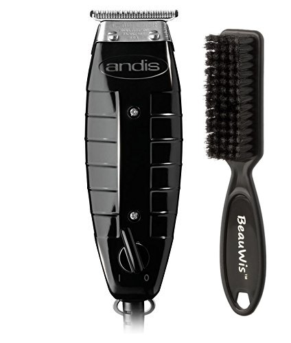 Andis 4775 Gtx T-Outliner Trimmer, Black with a BeauWis Blade Brush by Andis