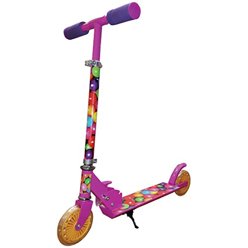 Starwalk Grind Girls 2 Wheel Scooter, Pink/Yellow