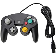 Black Gamecube Style USB Wired Controller for Emulator PC and Mac-Classic Nintendo GC Gamecube PC Wired Gamepad by MarioRetro