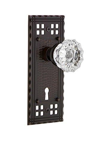 locking glass door knobs bronze - 5