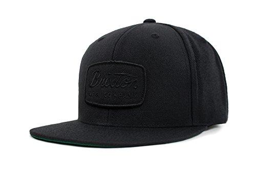 Brixton Men's Jolt Medium Profile Adjustable Snapback Hat, Black/Black, One - Best Back Snap