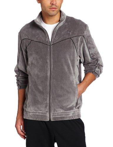 PUMA Men's Velour Jacket, Castlerock, X-Large