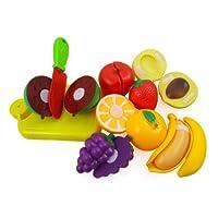 Juego de cocina para cortar frutas para niños con tabla de cortar
