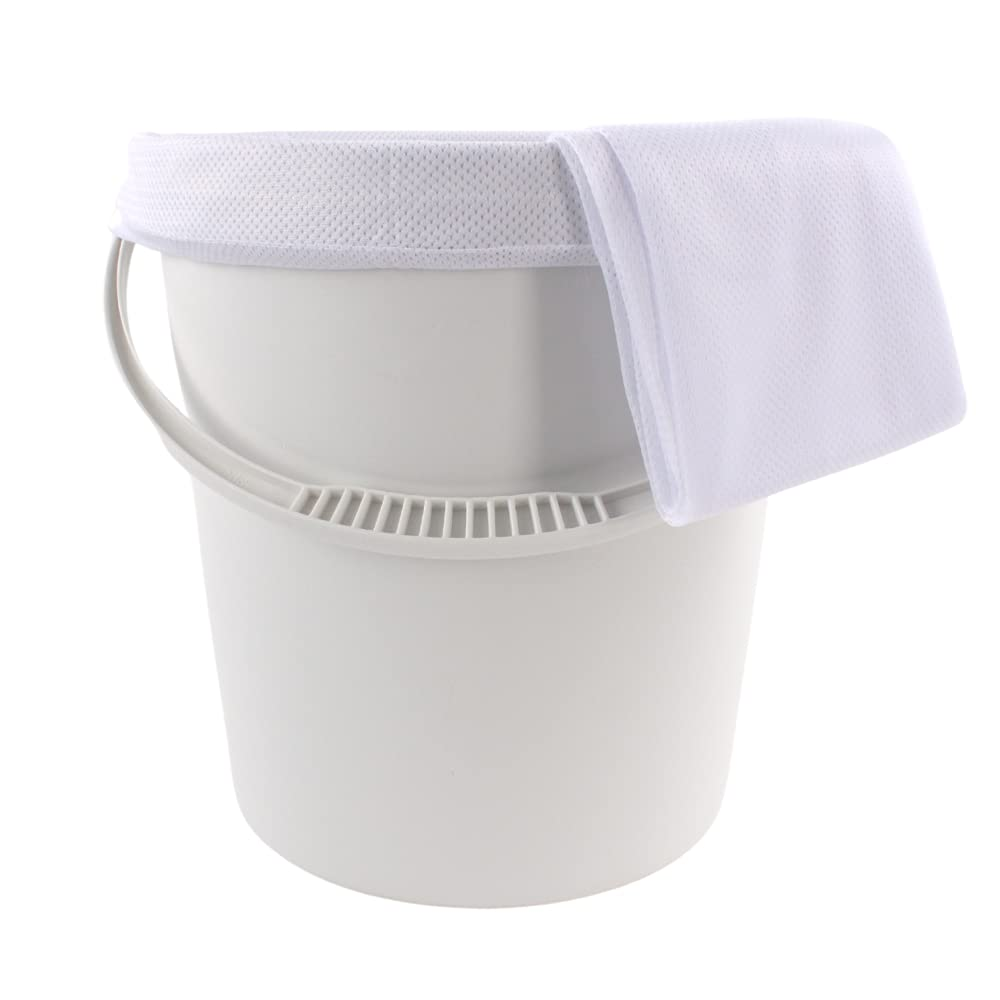 Junior Joy Nappy Pail with Lid and Pair of Mesh Bags - 3 Count, White
