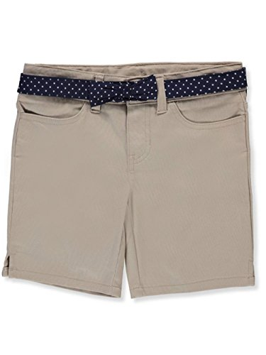 - French Toast Little Girls' Belted Short, Khaki, 5