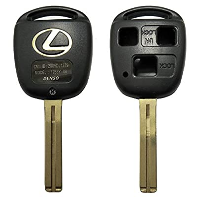 Horande Replacement Keyless Entry Remote Control Key Fob Case cover Fit for Lexus ES GS GX IS LS LX RX SC IS300 IS330 RX330 RX350 LX470 GX470 Key Fob Shell Cover With Blade (2PCS): Automotive