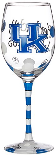 Game Day Outfitters NCAA Kentucky Wildcats Drinkware Wine Glass, One Size/12 oz, Multicolor