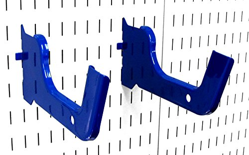 Wall Control Heavy Duty Pegboard Hook Slotted Hook Pair - Slotted Metal Pegboard Heavy-Duty Hooks for Wall Control Pegboard and Slotted Tool Board - Blue from Wall Control