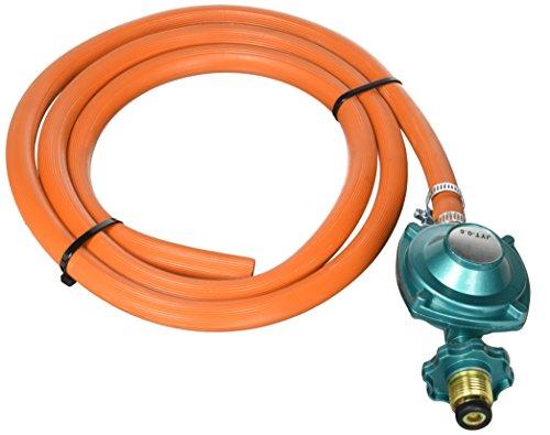 GasOne 2102 - Kit de regulador y conexión de manguera de baja presión para LP/LPG, parrilla de gas LP/LPG, calentador y...