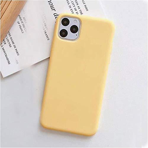 Capa Case Capinha Silicone Aveludada iPhone 11 PRO MAX (Amarela)