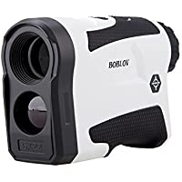BOBLOV 650Yards Golf Rangefinder with Pinsensor 6X Magnification Support Vibration and USB Charging Flag Lock Distance Speed Measurement Range Finder
