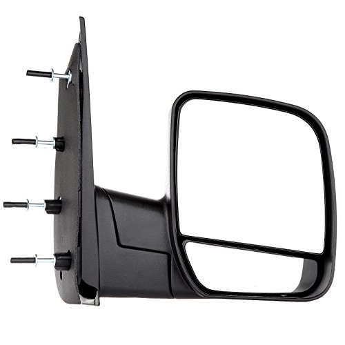 SCITOO Towing Mirrors fit Ford Exterior Accessories Mirrors fit 02-08 Ford E150 E250 E350 E450 E550 Van Duel Glass Foldable Manual Controlling Features Driver Side