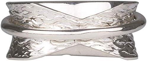 Energy Stone Style UK63 /« SIMPLICIT/É /» bague tournante de m/éditation en argent sterling