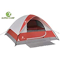 Alpha Camp 2 Person Dome Backpacking Tent Sheet Mat - 7'...