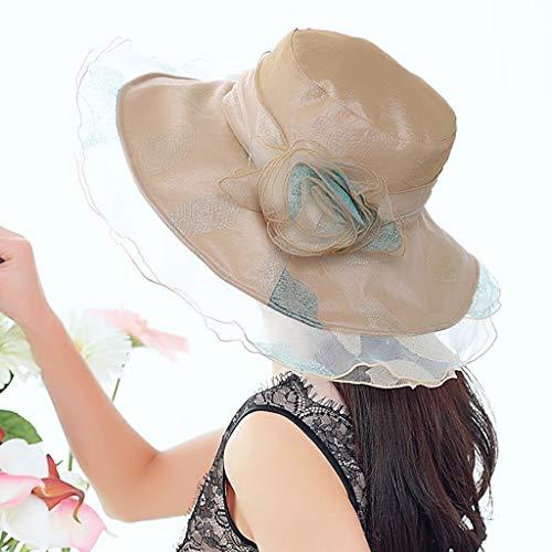 Mujer Beige Beige Protector El Sunhat Al Libre Sombrero Vestir Plegable De Sombreros Aire Para Portátil Verano color Uv Sol Solar Protección Rn6wHxv1q6