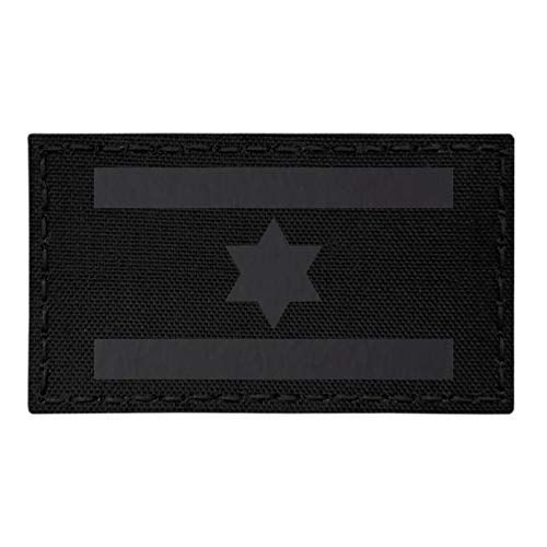 IR Israel Flag Blackout IDF Star David 2x3.5 Infrared IFF Tactical Morale Fastener Patch