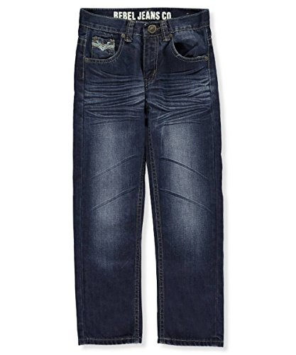 Boys Dark Blue Denim Jeans - 8