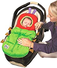 Eric Carle 2 in 1 Stroller and Infant Carrier Bag, Bunting Bag, Polyester, Hungry Caterpillar, Green, Red, Bro