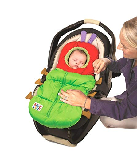 Eric Carle Infant Car Seat Cover, Car Seat Bunting Car Seat Footmuff, Infant Carrier Sleep Sack, Toddler Bundle Me, Baby Bunting Bag, Baby Stroller Sleeping Bag, Polyester, The Very Hungry Caterpillar -