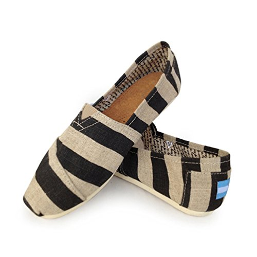 on Scarpe Dooxii Scarpe Uomo Loafers Basse Moda Nero 23 Durevole Casuale Espadrillas Flats 37 Striscia Slip Donna 5cm Unisex rrwPgqO