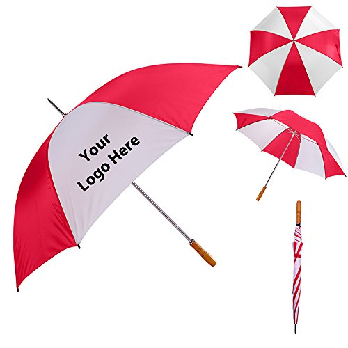 60'' Jumbo Golf Umbrella - 25 Quantity - $12.75 Each - PROMOTIONAL PRODUCT / BULK / BRANDED with YOUR LOGO / CUSTOMIZED by Sunrise Identity