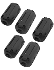 uxcell 5 Pcs UF-50B Clip on Noise 4mm Cable Ferrite Core Filters