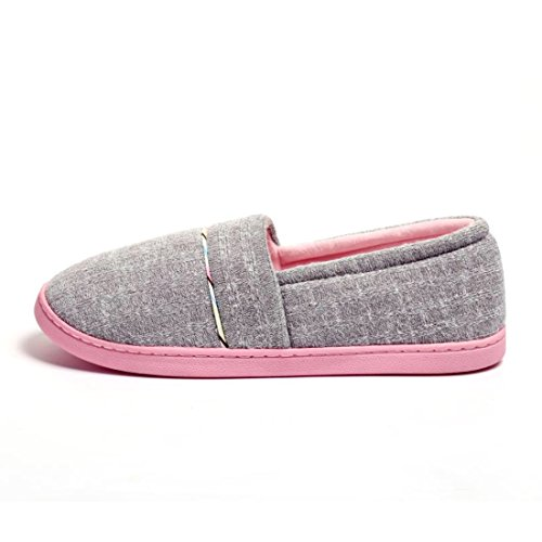 Slip Grey Cotton Cellicigal Anti Knit Women Bedroom FBA Home Comfort Shoes Indoor On Slip Slippers q6fpqIn