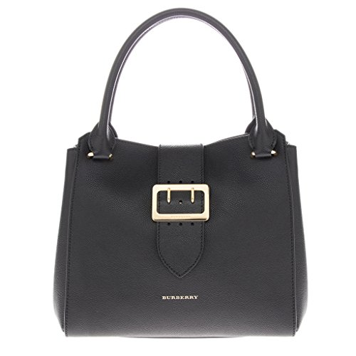 Burberry Women's The Medium Buckle Tote in Grainy Black