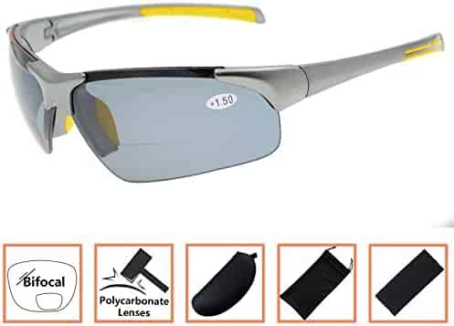 Unisex Sports Polarized Bifocal Sunglasses Lightweight TR90 Frame UV 400  Protection Outdoor Sun Readers e3b3b58bce