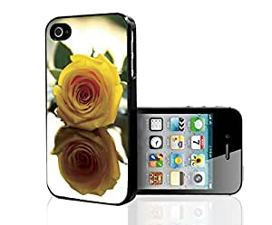 Pretty Yellow Rose Hard Snap on Phone Case (iPhone 4/4s) by icecream design