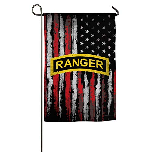 JANLAGEJR-FLAG US Army - Ranger Tab Patch Decal Garden Flags 18 X 12 Inch Holiday Outdoor Yard Flags