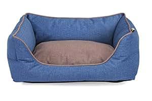 Fabotex Caseta para perros y gatos Petit sofà Easy Clean Cyan – 65 x 50 x