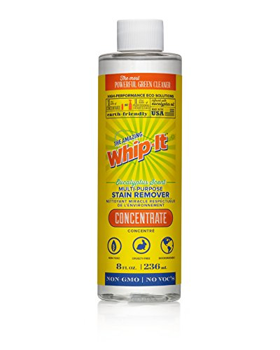 Whip-It Multi-Purpose Stain Remover - 8oz Concentrate - Plant-Based with All 6 Enzymes - All Natural - Made in USA