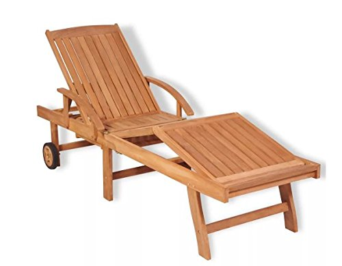 Lounger Adjustable Chaise Teak (Sunlounger Teak 76.8