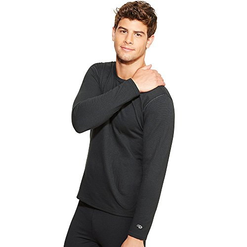Duofold Men's Heavy Weight Double Layer Thermal Shirt, Black, X-Large (Top Thermal Heavyweight)