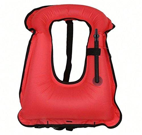 iRunzo Chaleco de snorkel - Inflable Compensador de flotabilidad Para niños adultos Buceo Nadando - Verde Chaleco de snorkel...