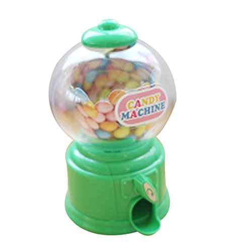 Baoblaze Cute Mini Candy Gumball Dispenser Kids Toy Vending Machine Saving Coin Bank - Green Green Gumball Machine