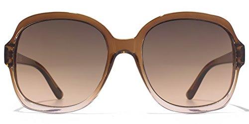 American Freshman Lunettes de soleil glamour Square en brun au rose dégradé AFS010 Brown Gradient