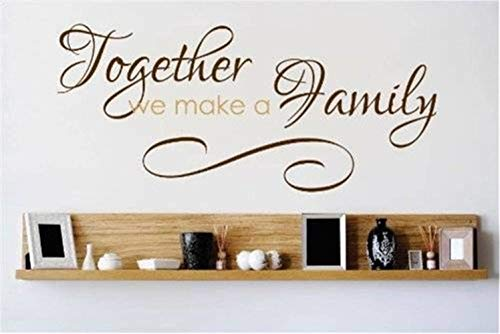 Letters Wall Stickers Home deocr Mural Decal Art Together We Make A Family for Living Room -