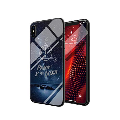 iPhone 7 Plus/8 Plus Tempered Glass Phone Case A-105 Panic at The Disco Pop Rock Soft Silicone TPU Cover (Panic At The Disco Iphone 7 Case)