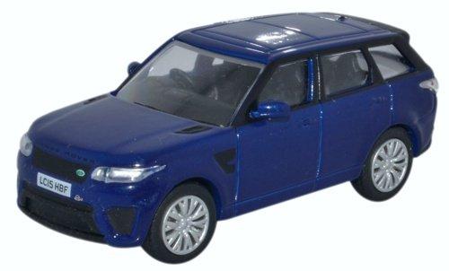 Oxford Diecast 76RRS001 2015 Range Rover Sport SVR Setoril Blue 1:76 (HO) Scale Diecast Model