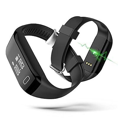 iMusi Smart Bluetooth Fitness Bracelet Waterproof Alarm Clock with Heart Rate and Sleep Monitor Analysis Pedometer