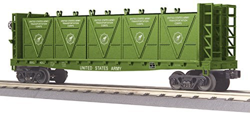 MTH Flat Car - w/Bulkheads & LCL Containers - U.S. Army