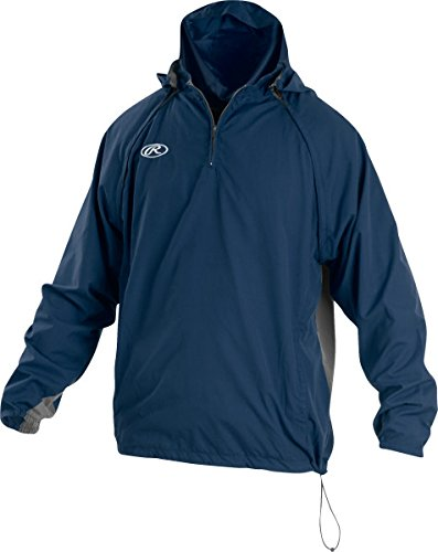 Rawlings Sporting Goods Mens Adult Jacket W Removable Sleeves & Hood, Navy, Large by Rawlings
