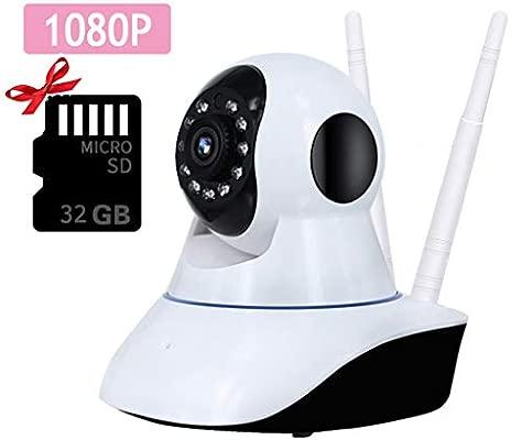 FTSUI Cámara IP WiFi 1080P, Seguridad de vigilancia Interior para ...