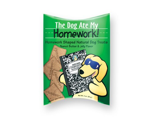 Bark Bars Dog Ate Homework Bars Pillow Pack Peanut Butter/Jelly Pet Treat, 2-Ounce ()