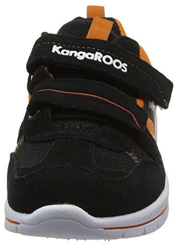 KangaROOS Kj-30 - Zapatilla Baja Niños Negro - Schwarz (black/dk orange 575)