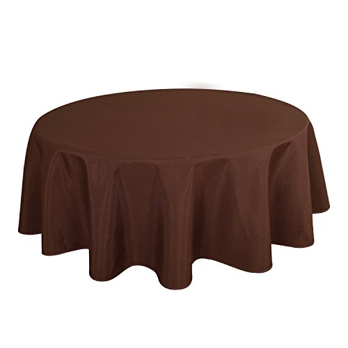 HIGHFLY Linen Round Tablecloth 60 Inch Waterproof Coffee Tablecloth for Home Kitchen Dining Room