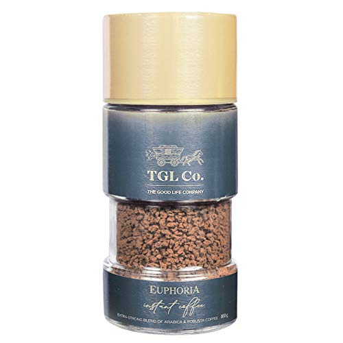 TGL Euphoria Instant Coffee Powder (100 gm) | Extra Strong Blend of Arabica & Robusta Coffee Beans