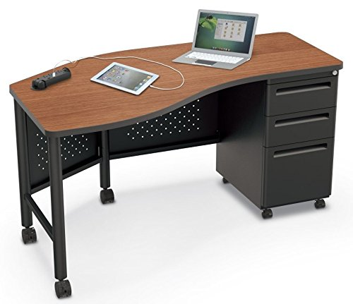 Balt MooreCo 91112 Instructor Teacher's Desk II - Oak Top and Platinum Base